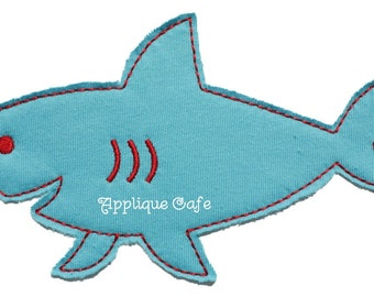 475 Raggy  Shark Machine Embroidery Applique Design