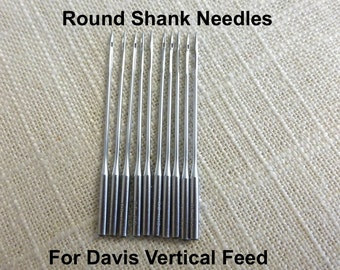Needles to fit Davis Vertical Feed High Arm Sewing Machine Round Shank Needles Pack of 10