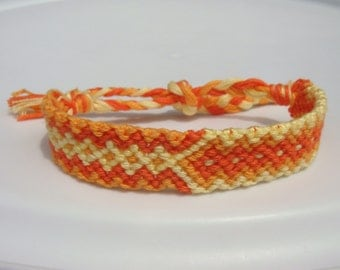 Orange and Yellow Friendship Bracelet