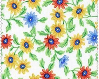 Crafty Cotton Multi DaisyCotton Fabric 0204-W