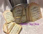 Wedding Gift Favor Tags /  Thank you Hang Tags