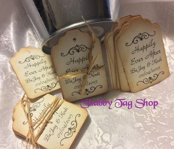 Wedding Favor Tags Uk : Wedding Gift Favor Tags / Thank you Hang Tags