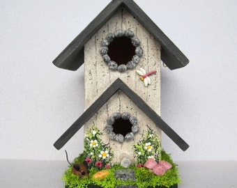 Mini Birdhouse with Mouse