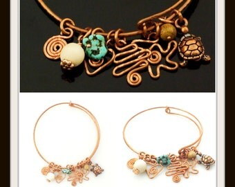 Copper Bangle Tutorial - Wire Wrapping, Texturing, Forging and Forming