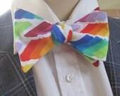 Rainbow Paint Bow Tie