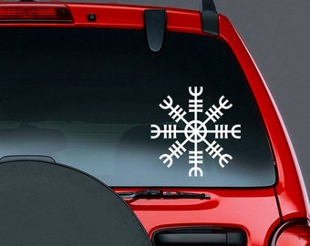 Helm of Awe Norse Mythology Viking Vinyl CAR DECAL Pagan Asatru