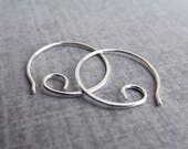 Mini Spiral Hoops, Small Sterling Silver Hoop Earrings, Simple Spirals, Small Earrings, Small Spirals, Small Hoops, Silver Wire Earrings