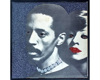 Glittered Ike and Tina Turner Album Cover Art