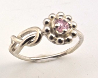 Sterling silver  Infinity Knot  Flower Ring Tie the Knot Ring Mother Sister Best Friend Bride Maid