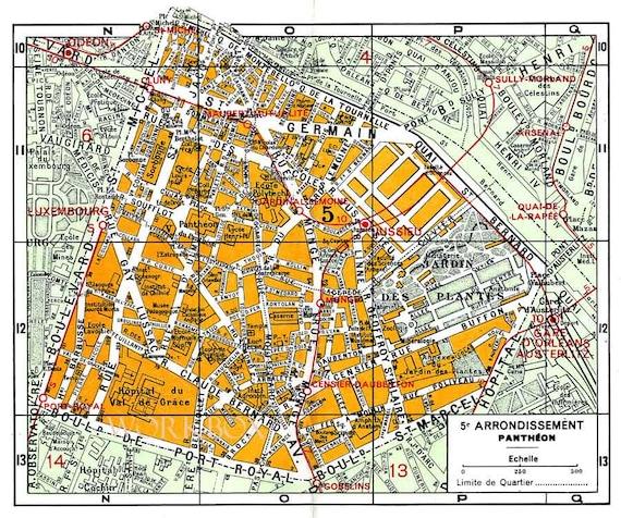 Printable Street Map Of Sorbonne Latin Quarter Rive Gauche: Paris 5th Arrondissement Map At Infoasik.co