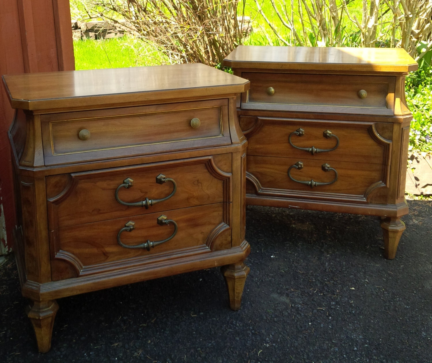 Nightstands pair available vintage french provincial for French nightstand bedside table