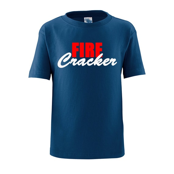 Adorable Fire Cracker Cute Fourth of July Toddler Tee (Goes With Little Firecracker) on Navy, Pink, Yellow, White, Red Child T-Shirt