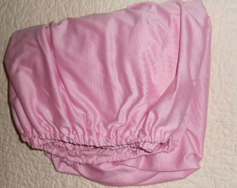 Light Rose Pink Knit Fitted Crib Sheet