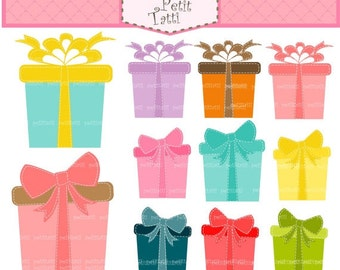 ON SALE gift box clip art - giftbox clipart, Digital clip art  for all use, present clip art, Instant download clip art
