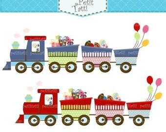 ON SALE train clip art , Digital clipart, Choo Choo train, instant download digital clip art