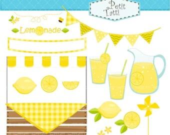 ON SALE Lemonade clip art clipart, lemon Digital clip art - Lemonade summer, instant download clip art