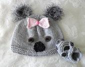 Baby Hats Knitting Knit Baby Hat Hand Knitted Koala Bear Baby Hat Knitted Baby Beanie Animal Hat Australian Baby Hat Children Clothing