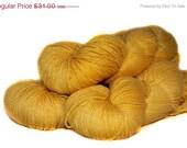 Closing 50 Percent OFF Hand Dyed Yarn Fingering Resplendence Sock Merino Silk 378 yards Sunbeam 009