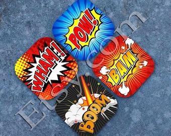 Colorful Comic Book Strip Coasters