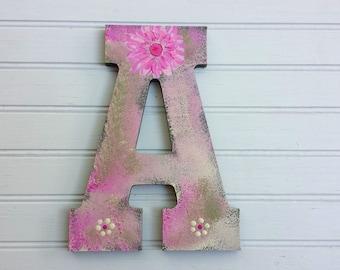 Door Letters - Painted Letters - Kids Room Letters - Door Initials - Boy Initial - Girl Initial
