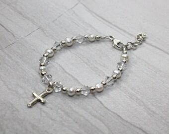 Sterling Silver Baby or Child's Baptism Bracelet