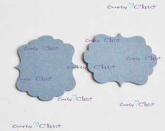 """150 Rectangle Bracket III Tags Size 1.75""""x2"""" -Rectangle Bracket Labels -Bracket paper die cuts -Bracket cardstock labels -Paper tags"""