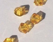 Swarovski elements Crystal Beads BICONE 5328 crystal beads SUNFLOWER (yellow) -- Available in 3mm, 4mm, 6mm 5mm,