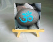 OM Print on Canvas with Easel
