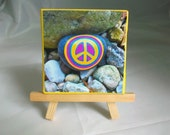 Peace Rock Mini Print on Canvas with Easel