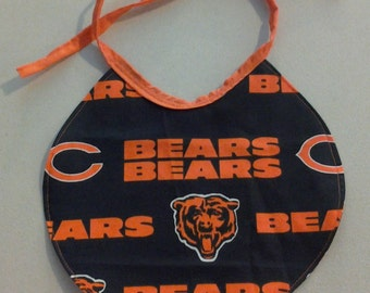 Reversible Infant Baby Bib Chicago Bears on one side and Different Chicago Bears on the other 243506