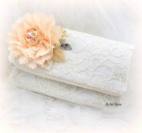 listing bridal heirloom clutch repurpose