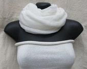 White Infinity loop scarf tube top hipband set Kundalini Yoga