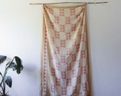 Scarf hand printed SAMPLE SALE scarves geometric boho chic hand dyed traditional natural dye Cotton Silk Accessories Gift For Her - Border
