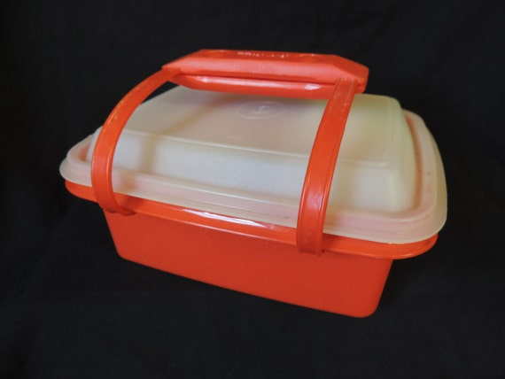 vintage tupperware pack n carry mini lunch box by cricketcapers. Black Bedroom Furniture Sets. Home Design Ideas