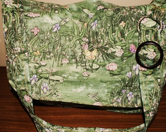 Beauitful Laptop Messenger Bag with Butter flys and Drangonflies-Back To School Sale.