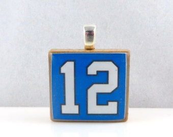 12 Seattle Seahawks fan Scrabble tile pendant - 12th Man Pride