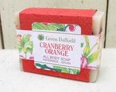 Cranberry Orange Bar of Soap - Green Daffodil