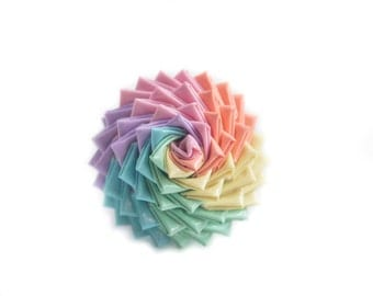 Pastel Rainbow Duct Tape Rose Ring - New