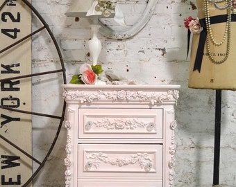 Painted Cottage Shabby Romantic Night Table NT779