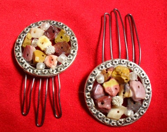 Lovely Set of Faux Stone Hair Pins