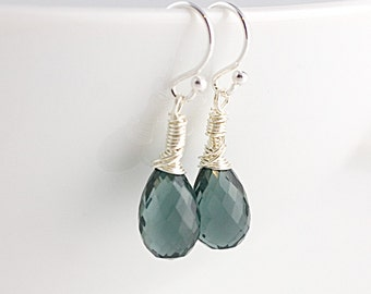 Smoke Gray Quartz Earrings