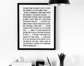 Personalised Sport Quotes Print