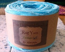 Rag yarn, Rug making, Fiber Arts supplies, Bahama Blue