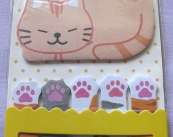 Kitty Cat sticky note for planner scrapbooking card making paper memo paw ship from USA
