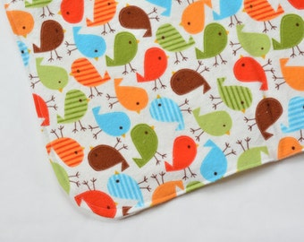 Security Blanket Baby Accessories Baby Boy Gift Cute Baby Mini Blanket Colorful Birds Changing Pad