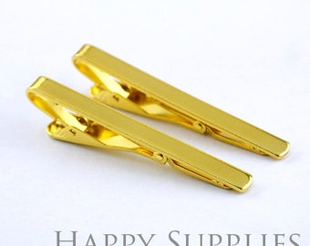 2pcs Nickel Free Gloden Concise Tie Clip (XJ164-G)