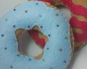 Donut felt set play food, pretend, childrens playfood set, felt donuts, childrens toy