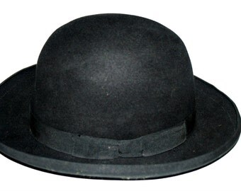 Borsalino Hat Bowler Style Rare Vintage 7 1/4