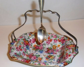 Vintage English Chintz Sweets Dish - Lord Nelson 'Marina' - 1930's