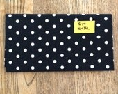 Michael Miller Ooh La Dot white on black fabric half yard